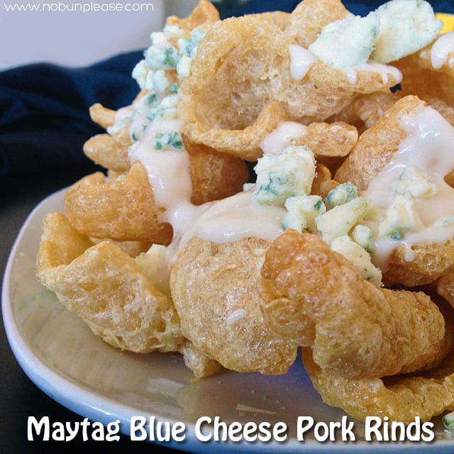 Crispy pork rinds topped with a warm alfredo sauce and creamy Maytag blue cheese.