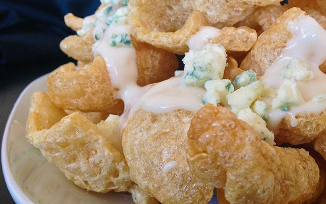 Maytag Blue Cheese Pork Rinds