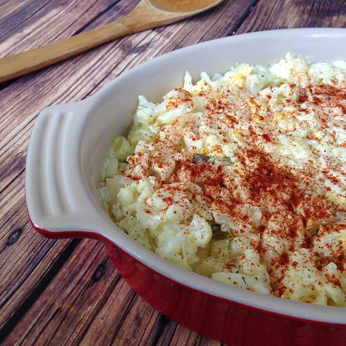 Keto Potato Salad Recipe from No Bun Please