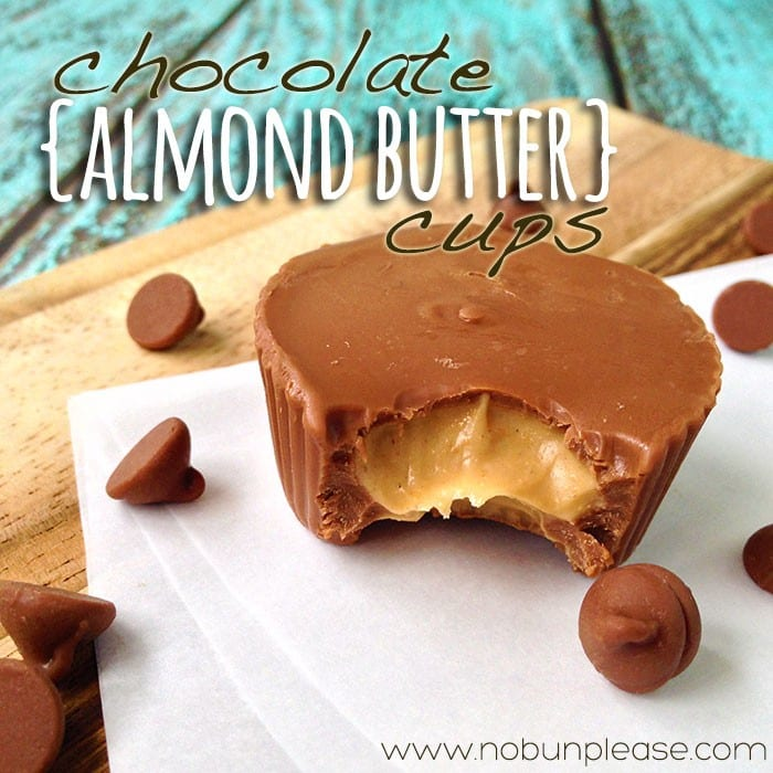 Chocolate Almond Butter Cups by No Bun Please