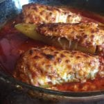 Hot sausage stuffed peppers