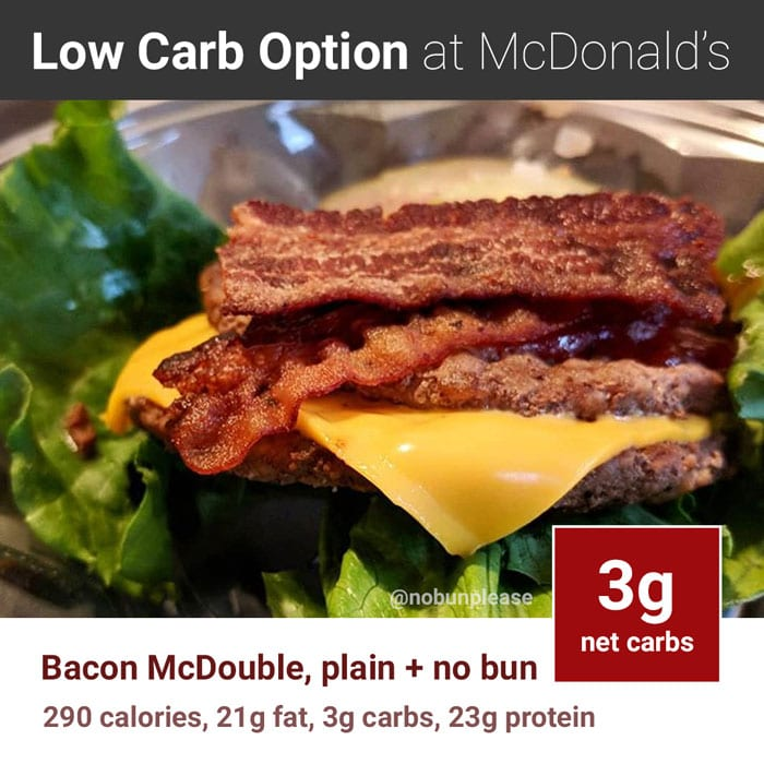 Keto at McDonald's: Bacon McDouble with no bun
