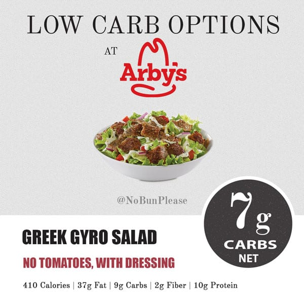 Low Carb & Keto at Arby's