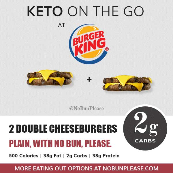 Keto Meal at Burger King Double Cheeseburgers