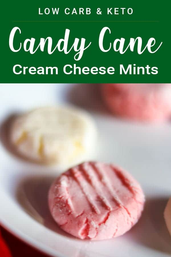 Candy Cane Cream Cheese Mints - Only 1g Net Carbs