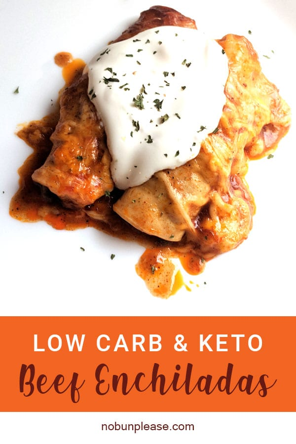 Easy Keto Enchiladas from NoBunPlease.com