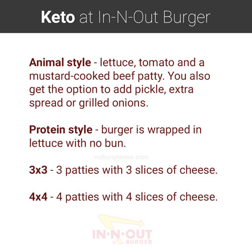 Order styles at In-N-Out