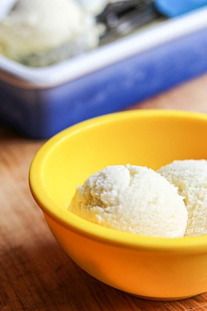 Bowl of low carb ice cream