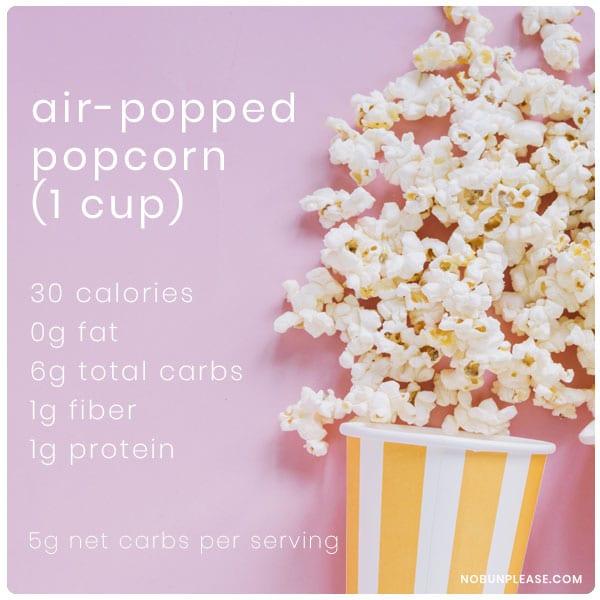 Popcorn net carbs