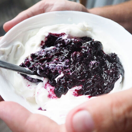 Keto Jam with Fresh Blueberries