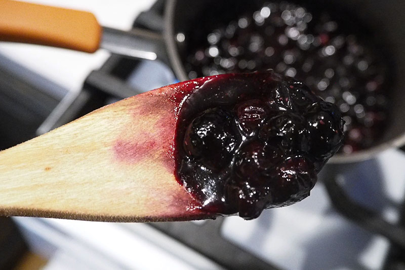 Thick blueberry jam