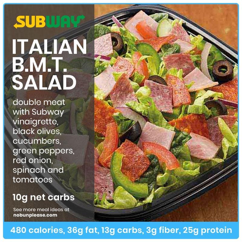 BMT Salad at Subway