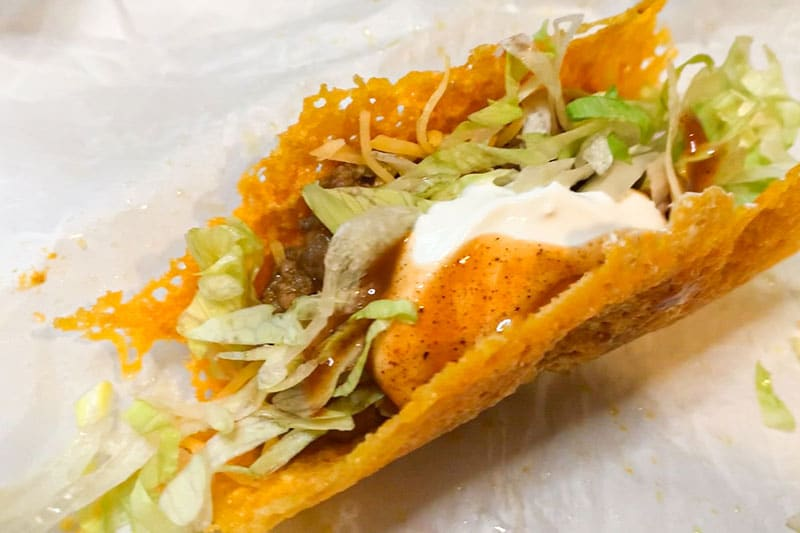Completed Cheese Shell Taco