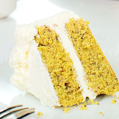 Yellow cake with icing from Kawaii Treats and Eats