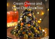 Cream Cheese and Olive Christmas Tree
